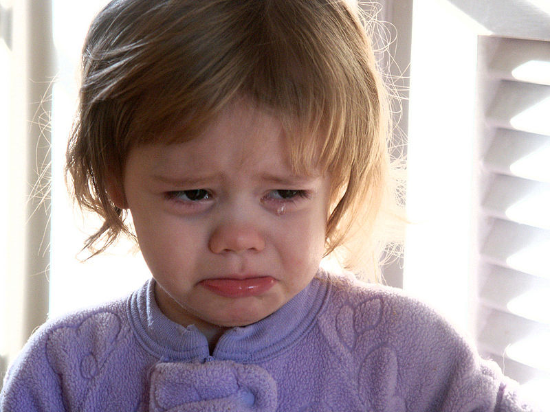 crying toddler  - Has a book ever made you cry?